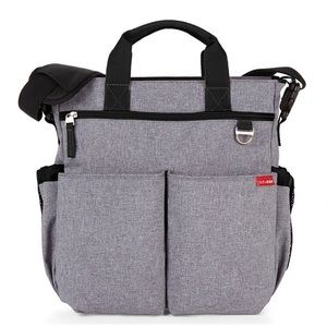SKIP HOP Duo Signature Diaper Bag in Heather Grey